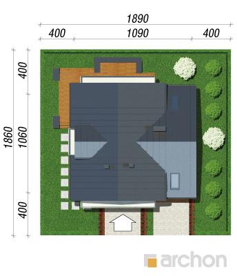 projekt Dom w budlejach sytuacja
