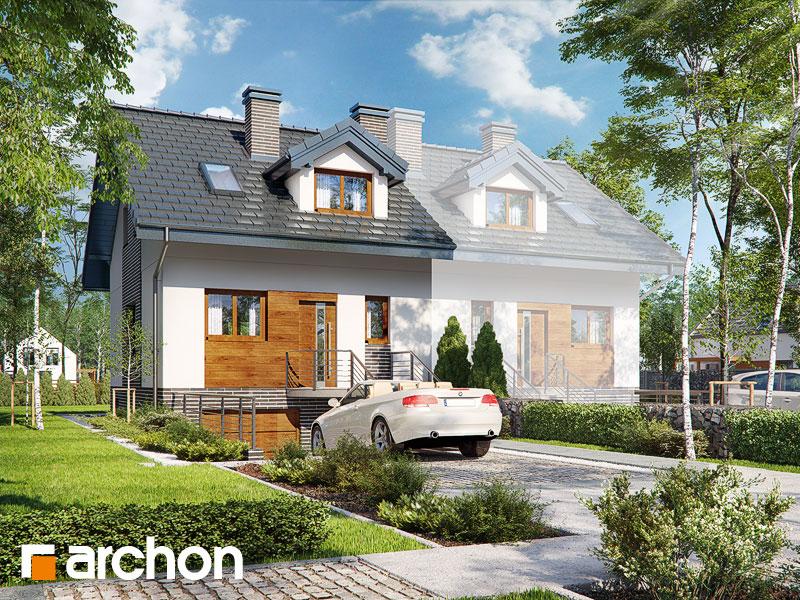 gotowy projekt Dom w cyklamenach 4 (PB) widok 1