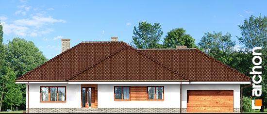 Elewacja frontowa projekt dom w alwach 2 g2  264