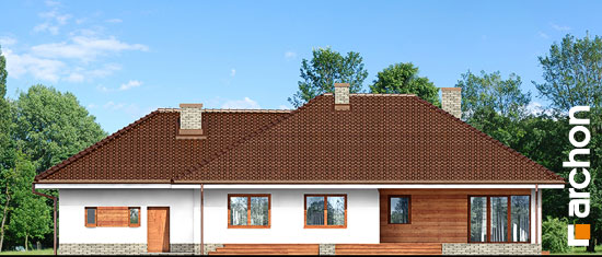 Elewacja ogrodowa projekt dom w alwach 2 g2  267
