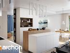 projekt Dom w alwach 2 (G2) Wizualizacja kuchni 1 widok 2