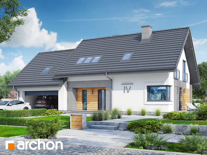 gotowy projekt Dom w malinówkach (G2A) widok 1