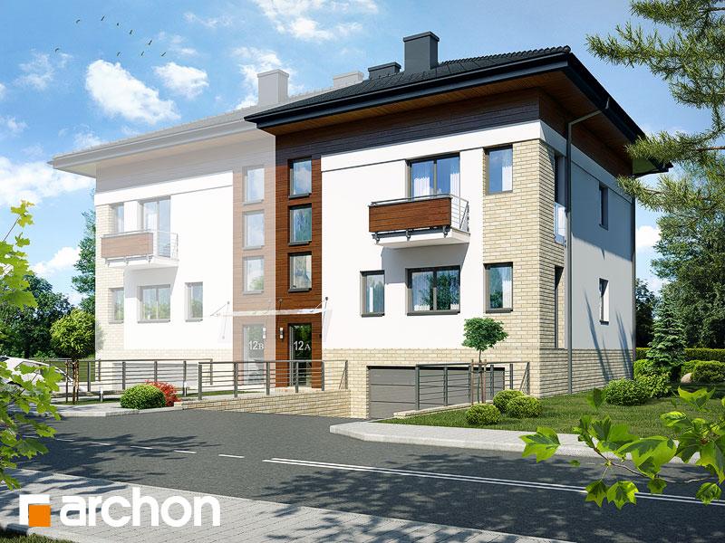 projekt Dom w sagowcach 3 (B) widok 1