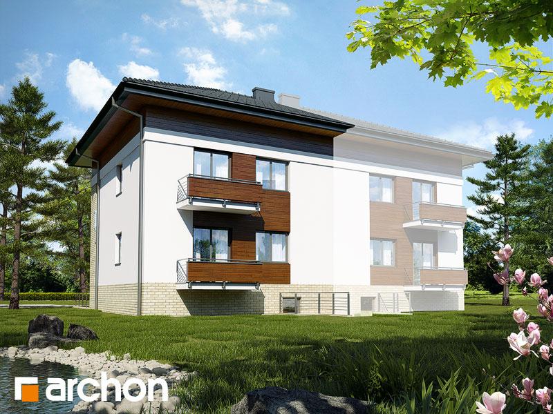 gotowy projekt Dom w sagowcach 3 (B) widok 2