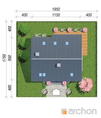 projekt Dom w jabłonkach 14 sytuacja