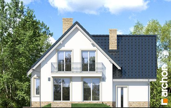 Elewacja ogrodowa projekt dom w winogronach 2 p  267