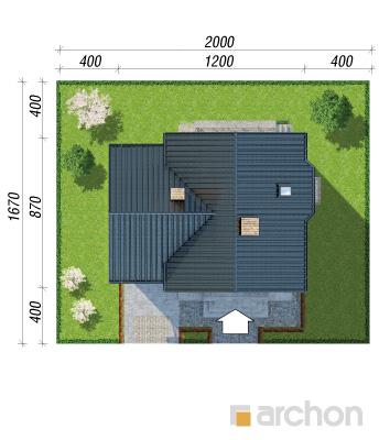 projekt Dom w winogronach 2 (P) sytuacja