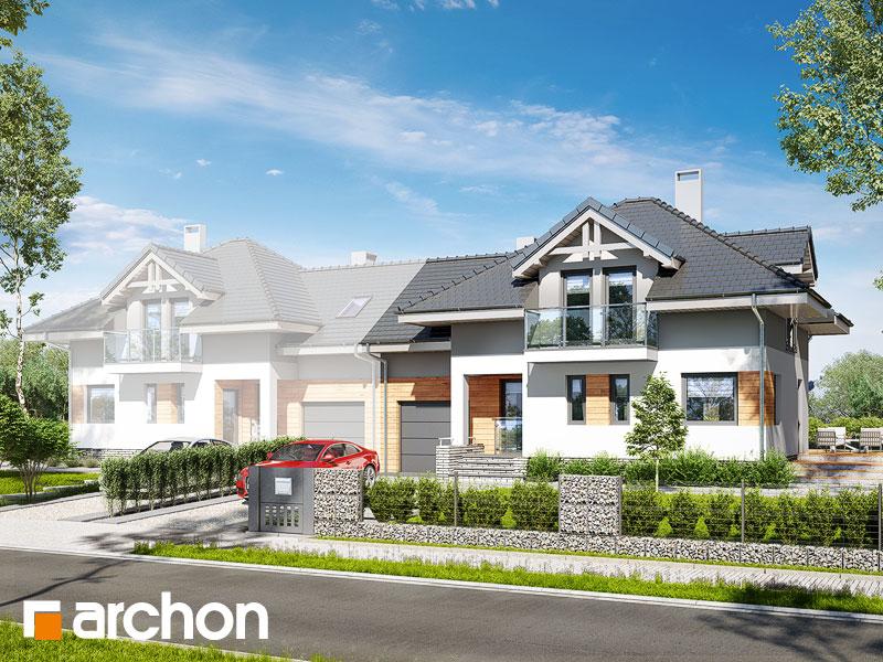gotowy projekt Dom w mircie 4 (B) widok 1