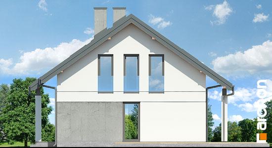 Elewacja boczna projekt dom miniaturka n ver 2  265
