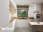 projekt Dom - Miniaturka (N) Wizualizacja kuchni 1 widok 1