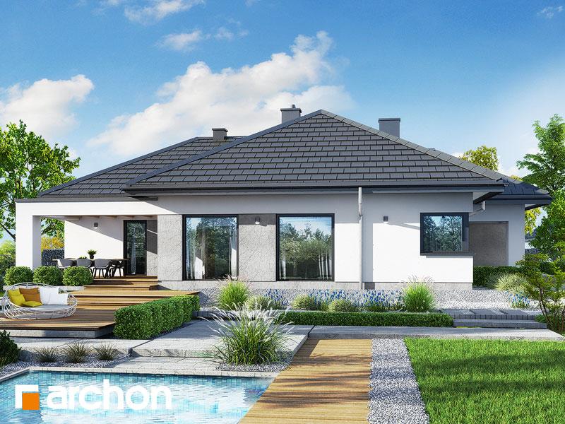 gotowy projekt Dom w renklodach 6 (G) widok 2