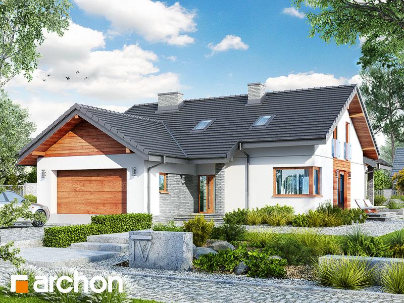 gotowy projekt Dom w pierwiosnkach (G2) widok 1