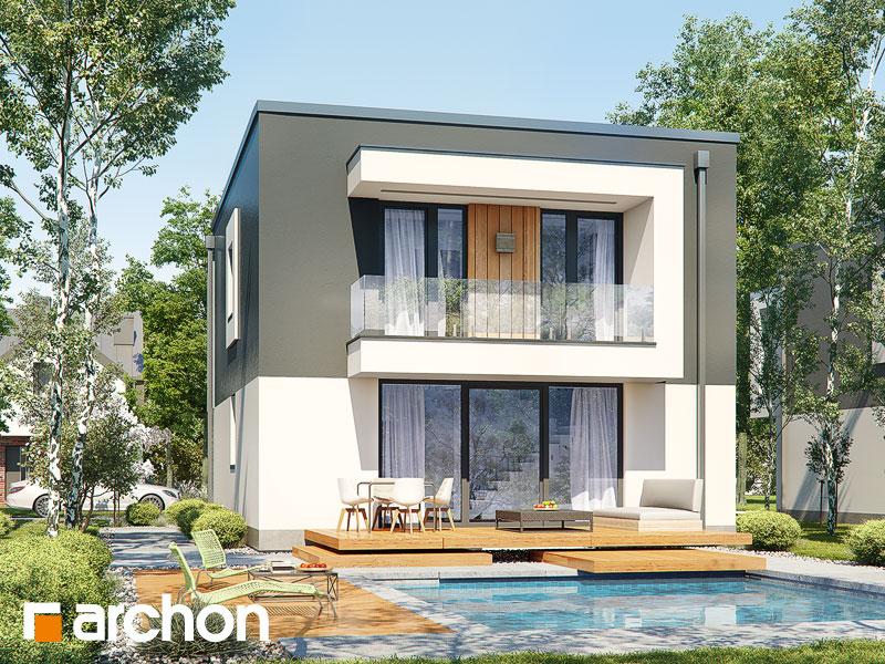 gotowy projekt Dom w klematisach 24 widok 2
