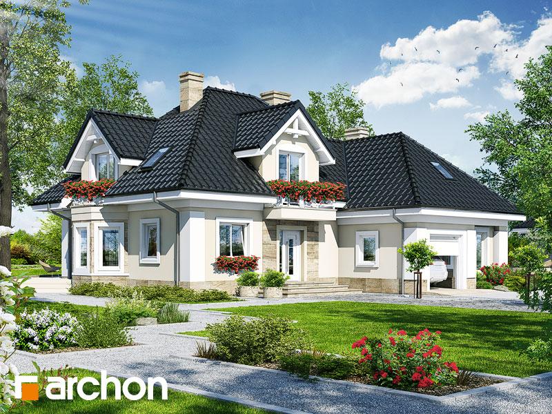 gotowy projekt Dom w nagietkach 4 widok 1