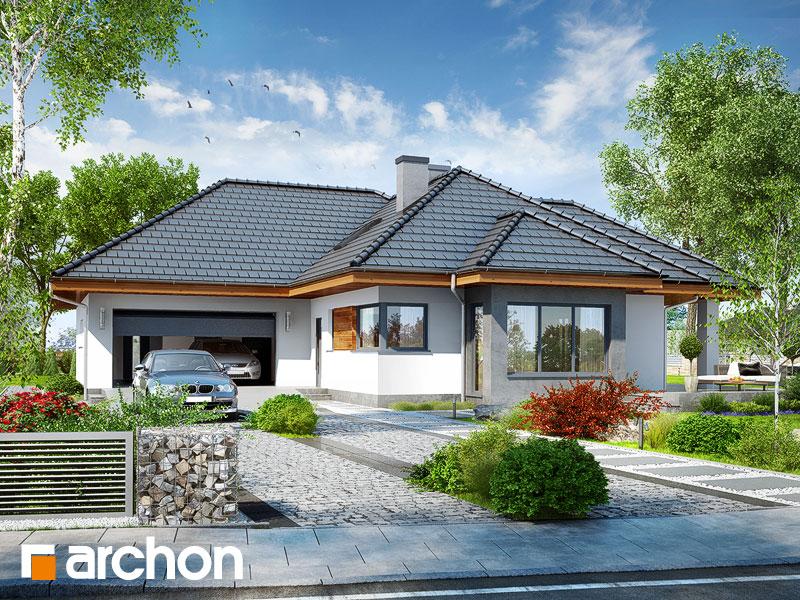 gotowy projekt Dom w powojach 3 (G2) widok 1