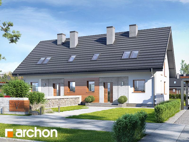 gotowy projekt Dom w poziomkach 2 (R2) widok 1