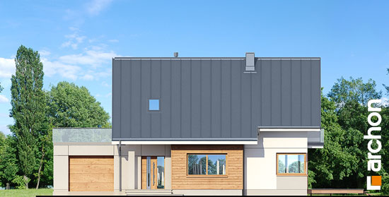 Elewacja frontowa projekt dom w aurorach 4  264
