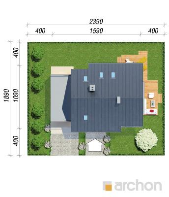 projekt Dom w aurorach 4 sytuacja