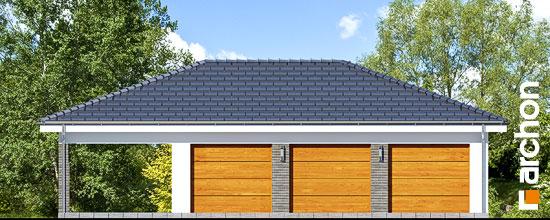 Elewacja frontowa projekt garaz 3 stanowiskowy g23  264