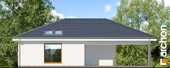 Elewacja ogrodowa projekt garaz 3 stanowiskowy g23  267