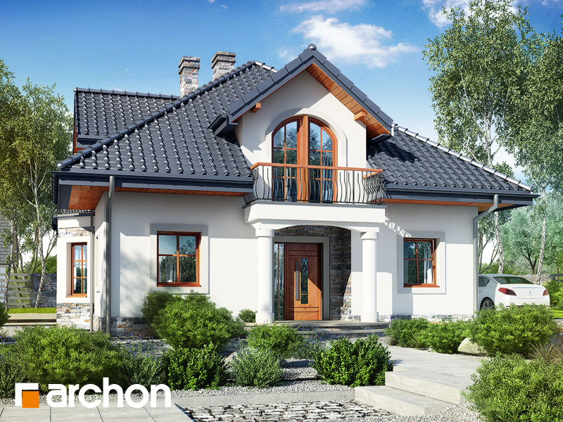 gotowy projekt Dom w tymianku 10 (P) widok 1