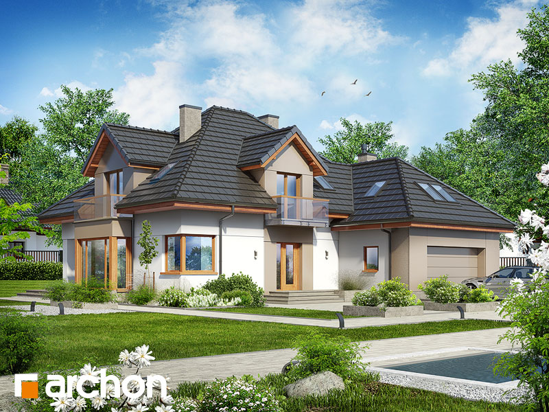 projekt Dom w nagietkach 2 (NT) widok 1
