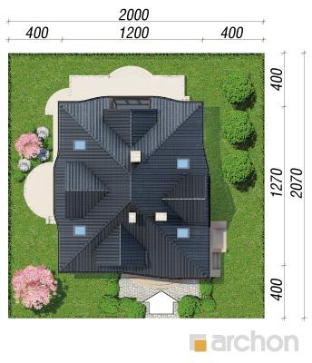 projekt Dom w zefirantach 3 sytuacja