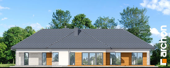 Elewacja boczna projekt dom w araukariach g2  265
