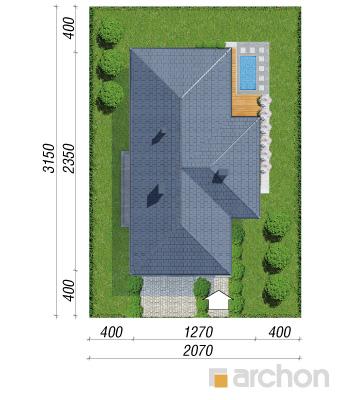 projekt Dom w araukariach (G2) sytuacja