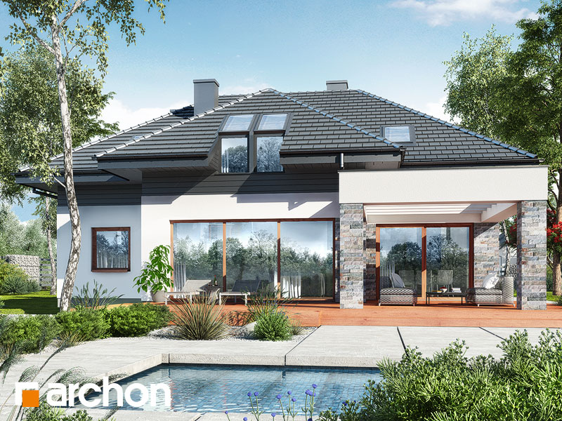 gotowy projekt Dom w maciejkach 2 (G2) widok 1