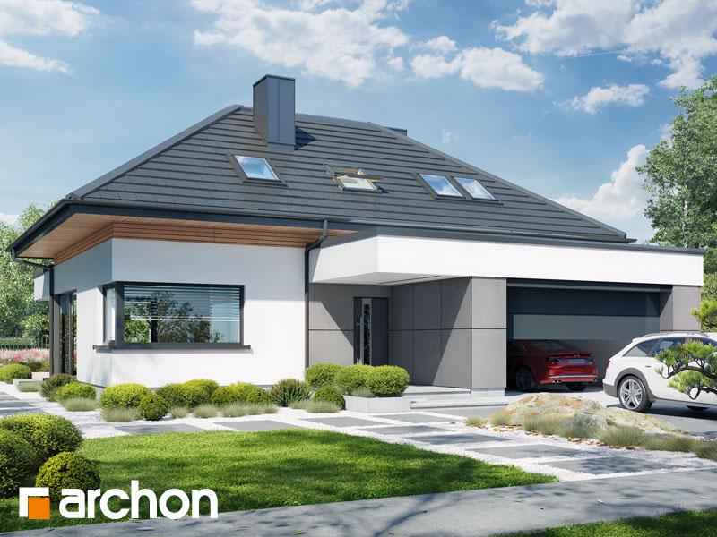 gotowy projekt Dom w przebiśniegach 14 (G2) widok 2