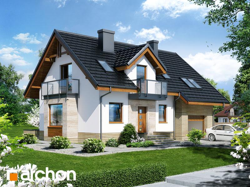gotowy projekt Dom w rododendronach 15 (NT) widok 1