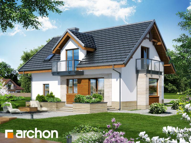 gotowy projekt Dom w rododendronach 15 (NT) widok 2