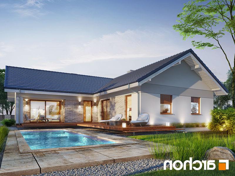 Lustrzane odbicie 2 projekt dom w lonicerach g2  290lo