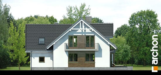 Elewacja ogrodowa projekt dom w rododendronach 5 n ver 2  267