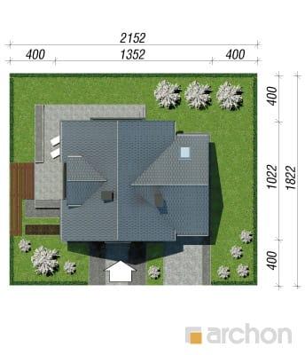 projekt Dom w rododendronach 5 (N) sytuacja