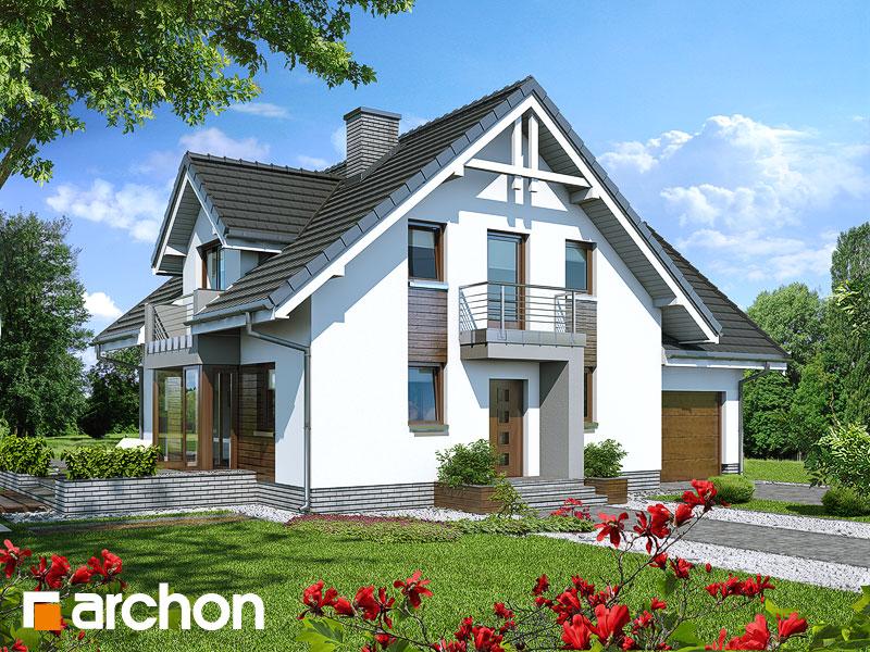 gotowy projekt Dom w rododendronach 5 (N) widok 1