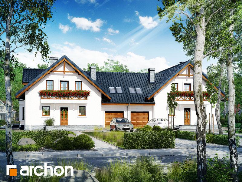 gotowy projekt Dom w rododendronach 5 (R2T) widok 1