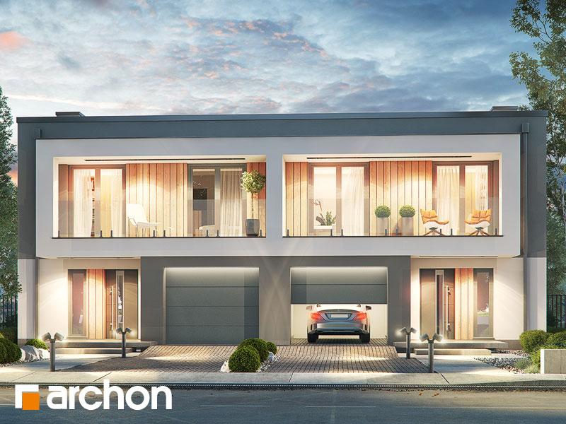 gotowy projekt Dom w klematisach 24 (R2) widok 1