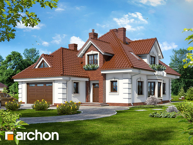 gotowy projekt Dom w orchideach widok 1