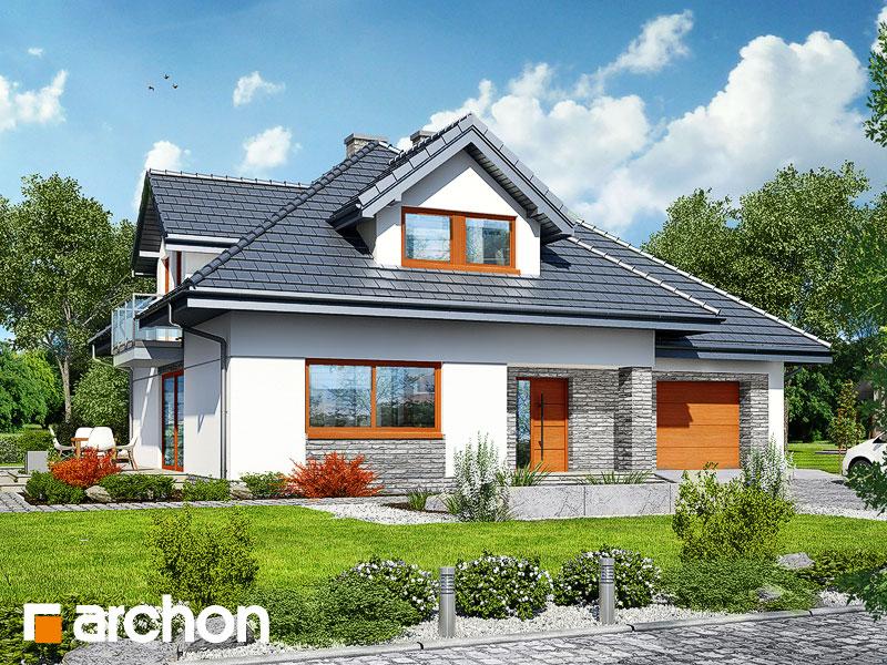 gotowy projekt Dom w czarnuszce 3 widok 1