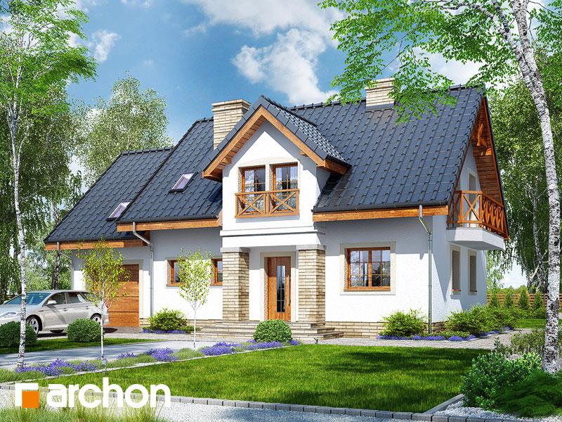 gotowy projekt Dom w rezedach 2 widok 1