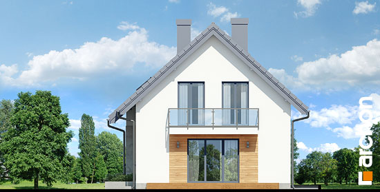 Elewacja boczna projekt dom w zielistkach gpn  265