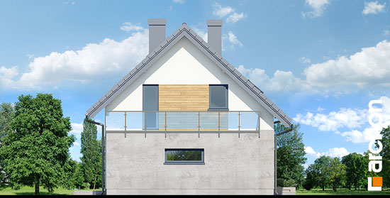Elewacja boczna projekt dom w zielistkach gpn  266