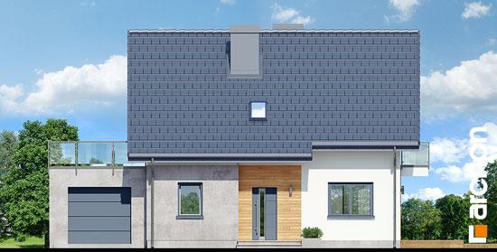 Elewacja frontowa projekt dom w zielistkach gpn  264