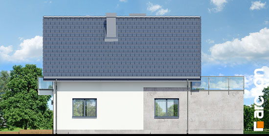 Elewacja ogrodowa projekt dom w zielistkach gpn  267