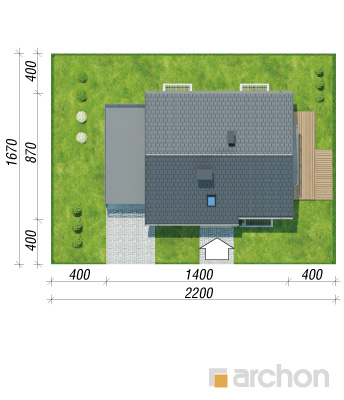 projekt Dom w zielistkach (GPN) sytuacja