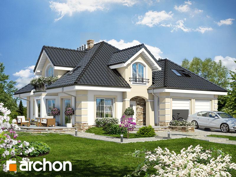 projekt Dom w dąbrówkach (G2P) widok 1
