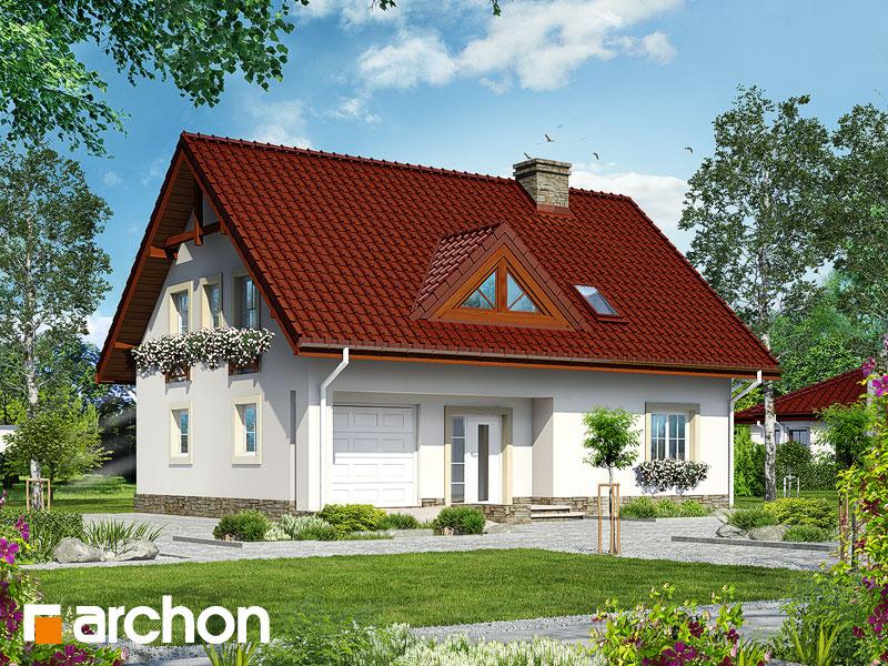 gotowy projekt Dom pod fikusem widok 1