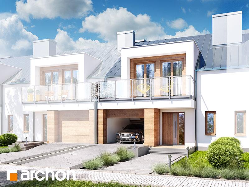 gotowy projekt Dom w klematisach 22 (S) widok 1